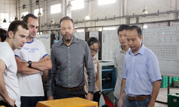 French BIC hood customers visit our company tour guide