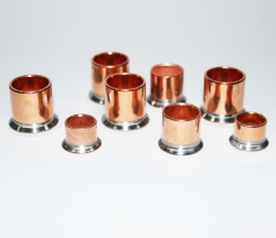 Iron plated copper pipe parts